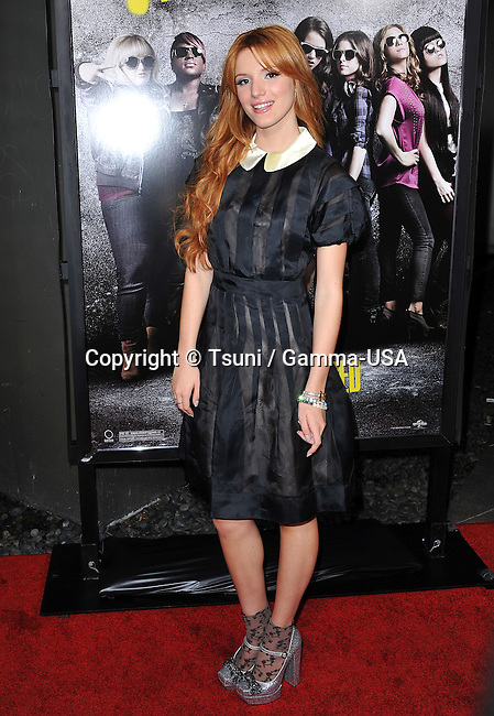 Bella Thorne  at  The Pitch Perfect Premiere at the Arclight Theatre In Los Angeles.