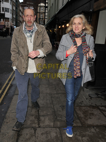Arthur Smith &amp; guest spotted walking along Old Compton Street, Soho, London, UK, on Monday 04 January 2016.<br /> CAP/CAN<br /> &copy;CAN/Capital Pictures