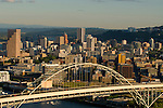 Aerial View of Fremont Bridge, Portland, Oregon