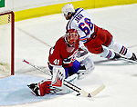 27 March 2007: Montreal Canadiens goaltender Jaroslav Halak of Slovakia in action against the New York Rangers at the Bell Centre in Montreal, Quebec, Canada...Mandatory Photo Credit: Ed Wolfstein Photo *** Editorial Sales through Icon Sports Media *** www.iconsportsmedia.com