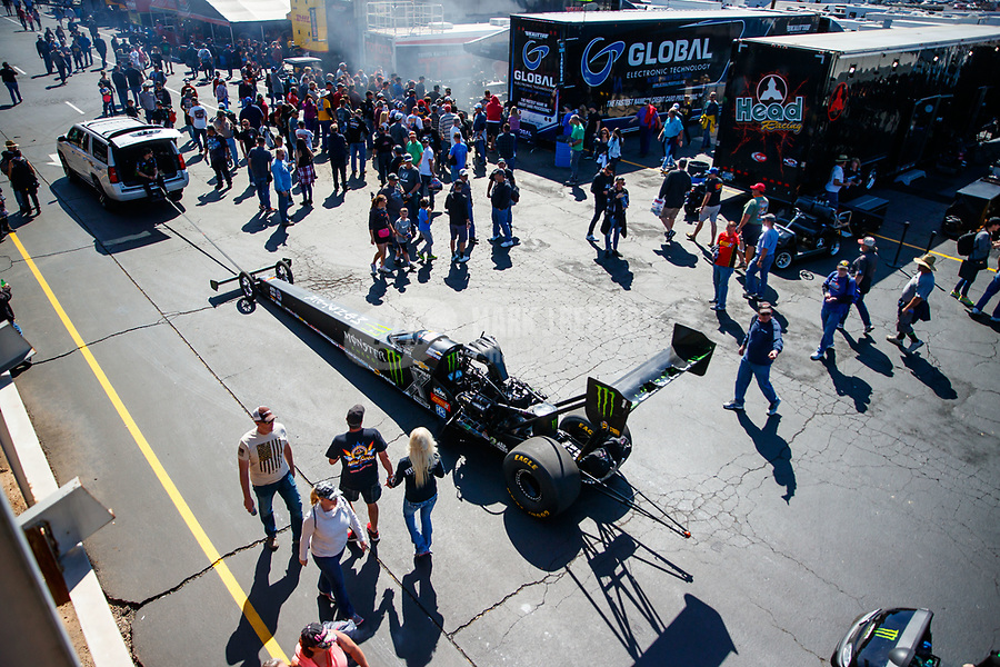 Feb 25, 2018; Chandler, AZ, USA; NHRA top fuel driver Brittany Force during the Arizona Nationals at Wild Horse Pass Motorsports Park. Mandatory Credit: Mark J. Rebilas-USA TODAY Sports