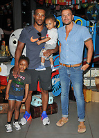 Ashley Walters with his kids and Peter Andre at the &quot;Thomas &amp; Friends: Big World! Big Adventures!&quot; UK film premiere, Vue West End, Leicester Square, London, England, UK, on Saturday 07 July 2018.<br /> CAP/CAN<br /> &copy;CAN/Capital Pictures