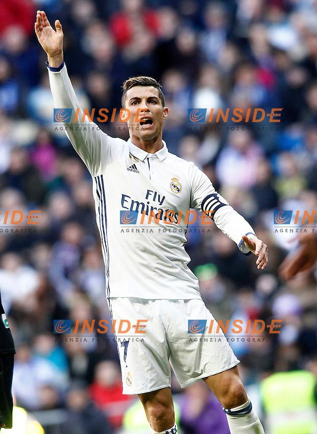 Real Madrid's Cristiano Ronaldo during La Liga match. January 7,2016. Madrid 07-01-2017 Stadio Santiago Bernabeu <br /> Real Madrid - Granada La Liga <br /> Foto Acero/Alterphotos/Insidefoto