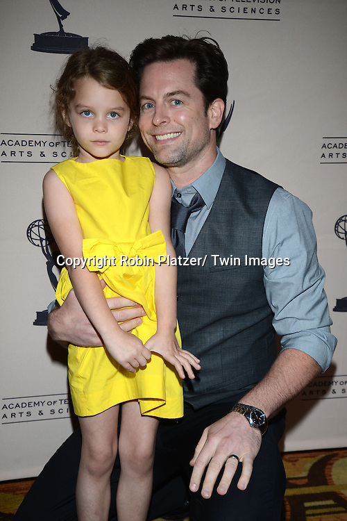Michael Muhney and daughter Ella attends the Academy Of Television Arts & Science Daytime Programming  Peer Group Celebration for the 40th Annual Daytime Emmy Awards Nominees party on June 13, 2013 at the Montage Beverly Hills in Beverly Hills, California.