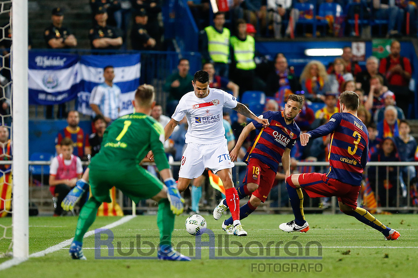 Sevilla´s midfielder Vitolo during the Final of Copa del Rey match between FC Barcelona and SevillaFC at the Vicente Calderon Stadium in Madrid, Sunday, May 22, 2016.
