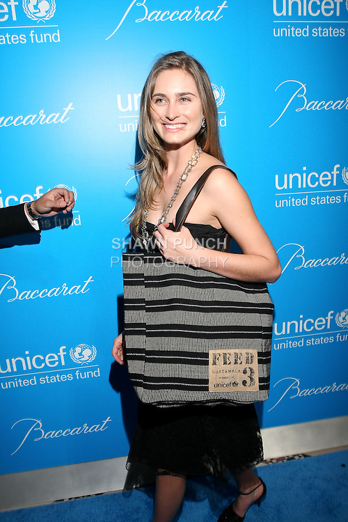 Lauren Bush arrives at the UNICEF Snowflake Ball, Presented by Baccarat, at Cipriani 42nd Street, November 30, 2010.