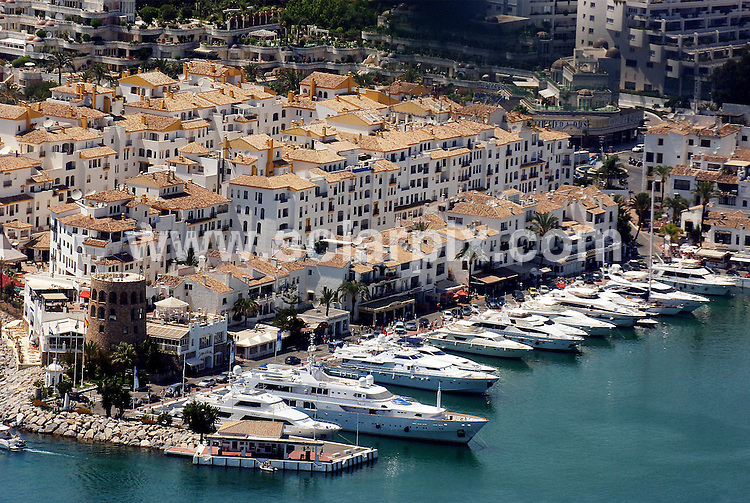 **ALL ROUND EXCLUSIVE PICTURES FROM SOLARPIX.COM**.**WORLDWIDE SYNDICATION RIGHTS**.Properties that  ex footballer Geoff Hurst invested in on the Costa del sol Spain...This pic: Aerial pictures of Puerto Banus marina in Marbella Spain..JOB REF: 10762       AB1       DATE:22.02.10.**MUST CREDIT SOLARPIX.COM OR DOUBLE FEE WILL BE CHARGED**.**MUST AGREE FEE BEFORE ONLINE USAGE**.**CALL US ON: +34 952 811 768 or LOW RATE FROM UK 0844 617 7637**