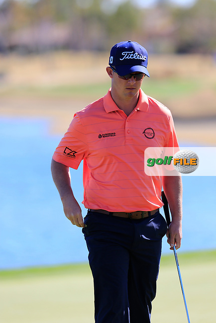 Chris Evans (USA) on the 18th green during Saturday's Round 3 of the 2017 CareerBuilder Challenge held at PGA West, La Quinta, Palm Springs, California, USA.<br /> 21st January 2017.<br /> Picture: Eoin Clarke | Golffile<br /> <br /> <br /> All photos usage must carry mandatory copyright credit (&copy; Golffile | Eoin Clarke)