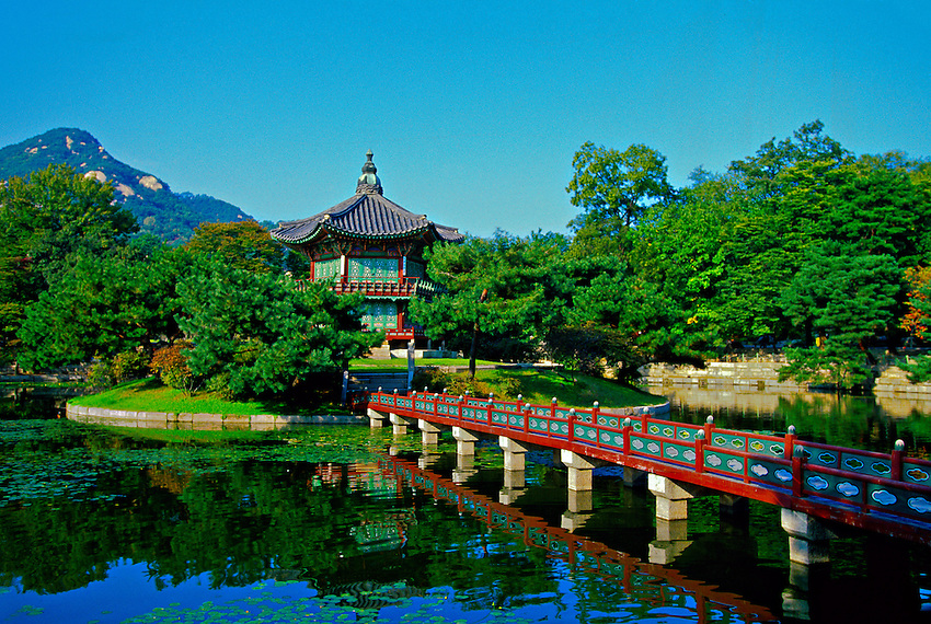 Hyangwonjong Pavilion (Loyal Family's private rear garden), Kyongbokkung Palace, Seoul, South Korea