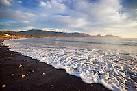 sunrise looking towards the Kaikouras and Kaikoura Bay, South Island