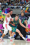 07.09.2014. Barcelona, Spain. 2014 FIBA Basketball World Cup, round of 16. Picture show J. Ingles in action during game between Turkey   v Australia at Palau St. Jordi