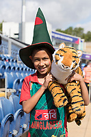 This young fan hoping for a Bangladesh victory during England vs Bangladesh, ICC World Cup Cricket at Sophia Gardens Cardiff on 8th June 2019