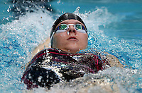 PICTURE BY VAUGHN RIDLEY/SWPIX.COM - Swimming - ASA Masters and Senior Age Group Championships 2012 - Ponds Forge, Sheffield, England - 27/10/12 - Alexandra Christie competes in the Women's 100m Backstroke.