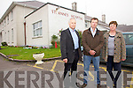 Cahersiveen Community Hospital faces the closure of Island View High Support Hostel, but there is strong opposition to this proposal pictured here l-r;Dan O'Connor(Development Manager Kerry Mental Health Association), Stewart Stephens & Una Sheehan...