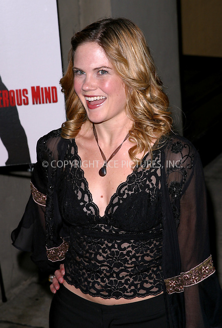 Jennifer Hall at the NY premiere of 'Confessions Of A Dangerous Mind' held at the Paris Theater. New York, December 19, 2002..Please byline: NY Photo Press. REF: M19 -- THIS REFERENCE CODE MUST APPEAR ON YOUR SALES REPORT, THANK YOU.....*PAY-PER-USE*      ....NY Photo Press:  ..phone (646) 267-6913;   ..e-mail: info@nyphotopress.com