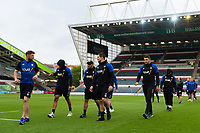 Bath Rugby players make their way to the changing rooms. Gallagher Premiership match, between Leicester Tigers and Bath Rugby on May 18, 2019 at Welford Road in Leicester, England. Photo by: Patrick Khachfe / Onside Images