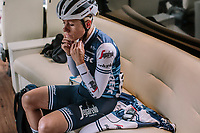 Trixi Worrack of Trek Segafredo in the bus before the 16th Ronde Van Vlaanderen<br /> <br /> Elite Womans Race (1.WWT)<br /> <br /> One day race from Oudenaarde to Oudenaarde<br /> ©Jojo Harper for Kramon