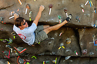 Highly trained athletes challenge their bodies -- and minds -- with the urban climbing structures at the U.S. National Whitewater Center in Charlotte, NC. With more than 40 roped climbs and structures that are made to look and feel like granite, the USNWC is one of the world's largest outdoor climbing centers....