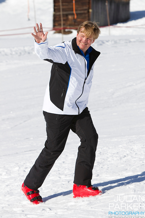 Crown Prince Willem Alexander Holland attends a Photocall with Members of The Dutch Royal Family during their Winter Ski Holiday in Lech Austria