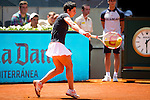The tennis player Carla Suarez during the match against Serena Williams in the Madrid Open Tennis Tournament. In Madrid, Spain, on 08/05/2014.
