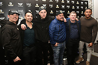 Founder Benjamin Shalom (3rd L) with Paulie Malignaggi, Anthony Crolla and Ricky Hatton during the Ultimate Boxxer Launch at the ME London Hotel on 5th February 2018