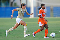 21 August 2011:  Chelsea Leiva (2) chases down Florida's Jazmyne Avant (11) in the first half as the University of Florida Gators defeated the FIU Golden Panthers, 2-0, at University Park Stadium in Miami, Florida.