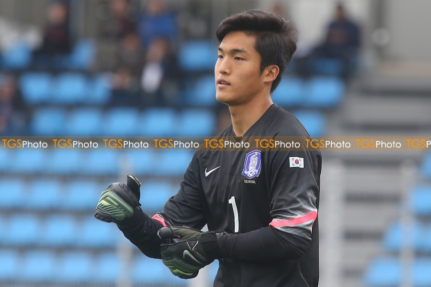 Korea goalkeeper, Dong Jun - Brazil Under-20 vs South Korea Under-20 - Toulon Tournament Group B Football at Lagrange Stadium, Toulon, France - 22/05/14 - MANDATORY CREDIT: Paul Dennis/TGSPHOTO - Self billing applies where appropriate - contact@tgsphoto.co.uk - NO UNPAID USE