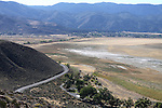 A view of the dried up Washoe Lake bed from Deadman's Creek trail in Washoe Valley, Nev., on Thursday, Sept. 17, 2015.  <br /> Photo by Cathleen Allison