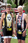 These two seniors are still competing in triathlons and were happy to finish the annual Chelanman Multisport Weekend held in Chelan every July.