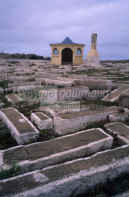 Afrique/Maghreb/Maroc/Essaouira : Le cimetière juif
