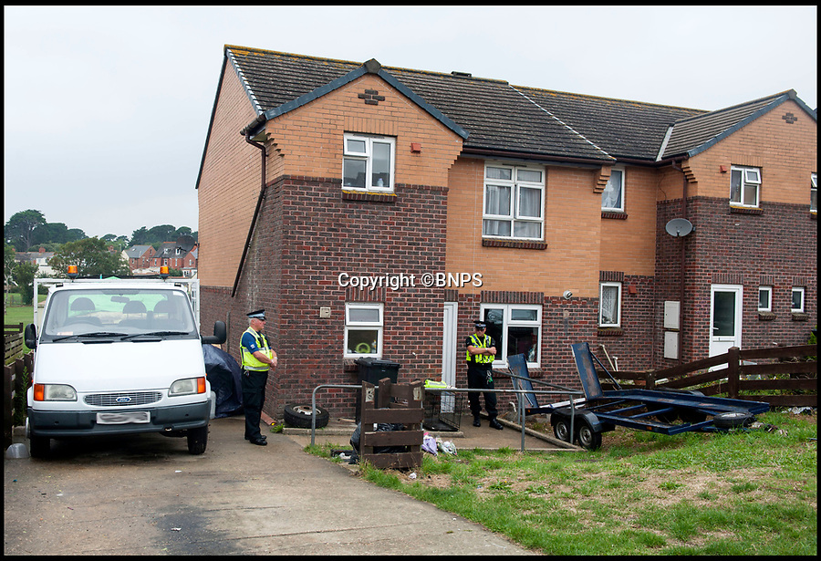 BNPS.co.uk (012902 558833)<br />Pic: TomWren/BNPS<br /><br />Police at the property in August 2015.<br /> <br /> Two companies responsible for an appalling catalogue of failures that led to the death of a five-year-old girl in her home have today been fined more than £1.5m.<br /> <br /> Alexys Brown died of severe head injuries after getting it trapped in a broken door panel of a disability lift that was for her wheelchair-bound  brother Jack.<br /> <br /> As the lift ascended her head crushed against the ceiling in her home in Weymouth, Dorset, in August 2015.<br /> <br /> Landlord Synergy Housing and lift maintenance form Orona Ltd admitted breaching health and safety laws and were fined at Bournemouth Crown Court.