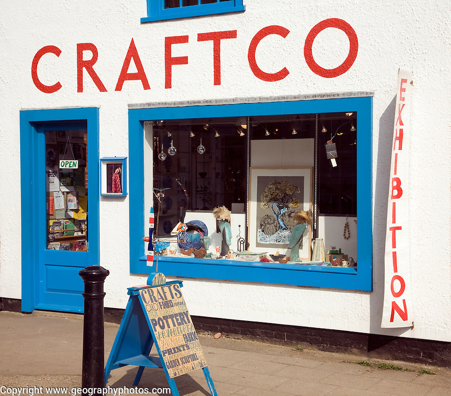 Craftco specialist art and craft shop, Southwold, Suffolk, England