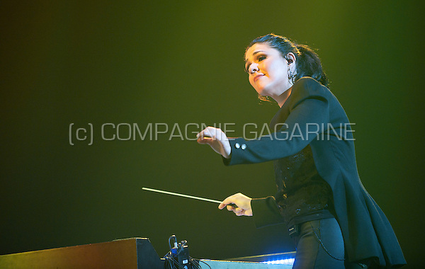 Brazilian conductor Alexandra Arrieche conducting at the Night Of The Proms, in Antwerp (Belgium, 14/11/2015)