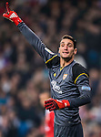 Goalkeeper Sergio Rico of Sevilla FC reacts during their Copa del Rey Round of 16 match between Real Madrid and Sevilla FC at the Santiago Bernabeu Stadium on 04 January 2017 in Madrid, Spain. Photo by Diego Gonzalez Souto / Power Sport Images