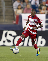 FC Dallas midfielder Jackson Goncalves (6) traps the ball. In a Major League Soccer (MLS) match, the New England Revolution defeated FC Dallas, 2-0, at Gillette Stadium on September 10, 2011.