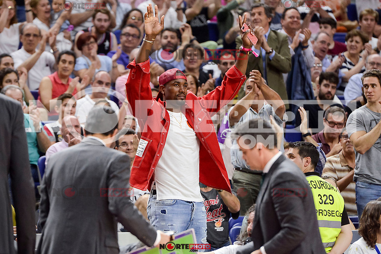 NBA Toronto Raptors's player Serge Ibaka during semi finals of playoff Liga Endesa match between Real Madrid and Unicaja Malaga at Wizink Center in Madrid, June 02, 2017. Spain.<br /> (ALTERPHOTOS/BorjaB.Hojas) /NortePhoto.com