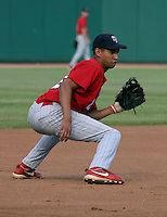 August 21, 2003:  Infielder Juan Sosa (2) of the Scranton Wilkes-Barre Red Barons, Class-AAA affiliate of the Philadelphia Phillies, during a International League game at Frontier Field in Rochester, NY.  Photo by:  Mike Janes/Four Seam Images