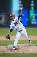 Durham Bulls starting pitcher Vidal Nuno (38) in action against the Buffalo Bison at Durham Bulls Athletic Park on April 25, 2018 in Allentown, Pennsylvania.  The Bison defeated the Bulls 5-2.  (Brian Westerholt/Four Seam Images)