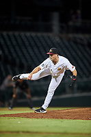 Mesa Solar Sox relief pitcher Will Vest (22), of the Detroit Tigers organization, during an Arizona Fall League game against the Peoria Javelinas on September 21, 2019 at Sloan Park in Mesa, Arizona. Mesa defeated Peoria 4-1. (Zachary Lucy/Four Seam Images)