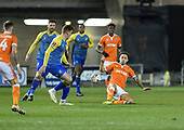 18/12/18 The Emirates FA Cup, 2nd Round Replay Blackpool v Solihull Moor<br /> <br /> John O'Sullivan clears