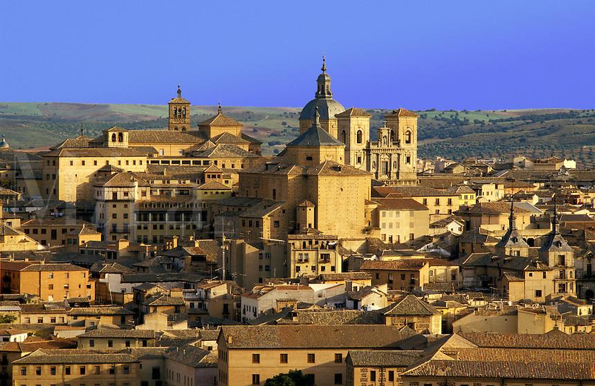 Spain Toledo Part of the old town Castile la Mancha.