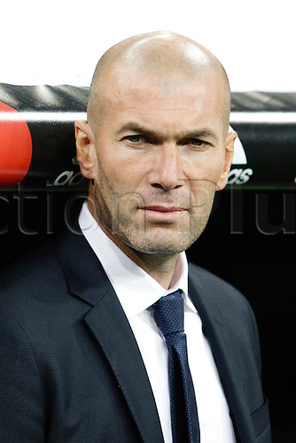 09.01.2016. Madrid, Spain.  Zinedine Zidane first game as coach of Real Madrid during the soccer match La Liga between Real Madrid vs Deportivo de la Coruna at the Santiago Bernabeu stadium in Madrid, Spain, January 9, 2016.