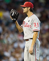 Hamels, Cole 5558.jpg Philadelphia Phillies at Houston Astros. Major League Baseball. September 6th, 2009 at Minute Maid Park in Houston, Texas. Photo by Andrew Woolley.