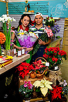 Eden Flowers is a vendor at 7th Street Public Market in Uptown Charlotte, North Carolina. Building upon the success of Charlotte's Center City Green Market, the Seventh Street Public Market opened in 2012 to be a year-round market serving and celebrating local food artisans, entrepreneurs and local and regional farmers. Image is part of a series of photos taken of the Center City attraction.