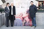 Actress Barbara Lennie, Susi Sanchez and director of the film Ramon Salazar attends to the presentation of the film 'La Enfermedad del Domingo' at Princesa Cinemas in Madrid , Spain. February 22, 2018. (ALTERPHOTOS/Borja B.Hojas)