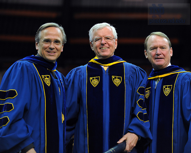Patrick Finneran receives an honorary degree at the 2009 Commencement...Photo by Matt Cashore/University of Notre Dame