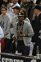 New York Yankees fan Jay Z during ALDS game #5 against the Detroit Tigers at Yankee Stadium on October 06, 2011 in Bronx, NY.  Detroit defeated New York 3-2 to take the series 3 games to 2 games.  Tomasso DeRosa/Four Seam Images