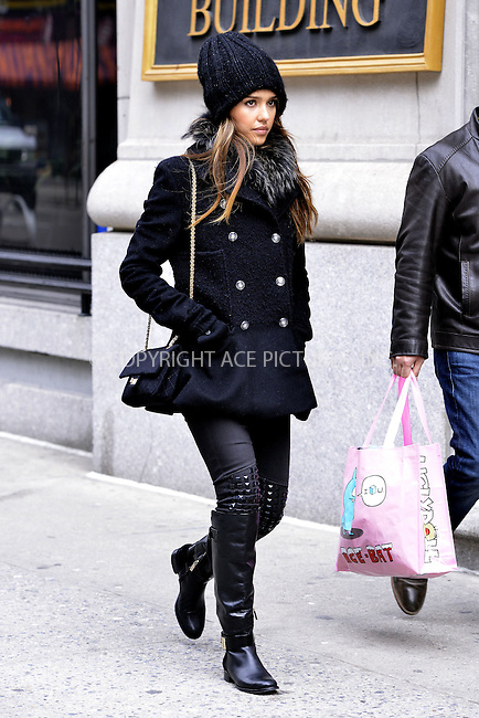 WWW.ACEPIXS.COM<br /> <br /> January 20 2014, New York City<br /> <br /> Actress Jessica Alba walks in Soho on January 20 2014 in New York City<br /> <br /> By Line: Curtis Means/ACE Pictures<br /> <br /> <br /> ACE Pictures, Inc.<br /> tel: 646 769 0430<br /> Email: info@acepixs.com<br /> www.acepixs.com