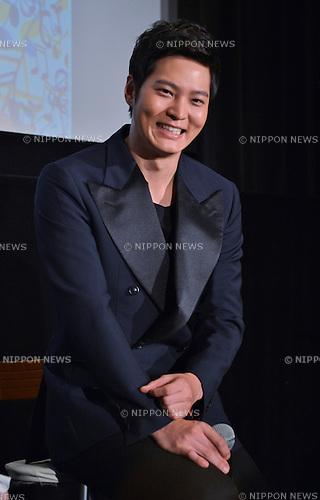 """Joo Won, May 28, 2015 : Joo Won, Naeil's Cantabile, May 28, 2015, Tokyo, Japan : Korean actor Joo Won attends a press conference for TV drama """"Naeil's Cantabile"""" at Cinemart Roppongi in Tokyo, Japan, on May 28, 2015"""