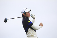 Phachara Khongwatmai (THA) on the 2nd tee during Round 1 of the Dubai Duty Free Irish Open at Ballyliffin Golf Club, Donegal on Thursday 5th July 2018.<br /> Picture:  Thos Caffrey / Golffile